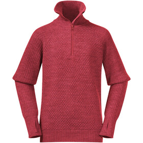 Bergans Ulriken Wool Jumper Jongeren, light dahlia red